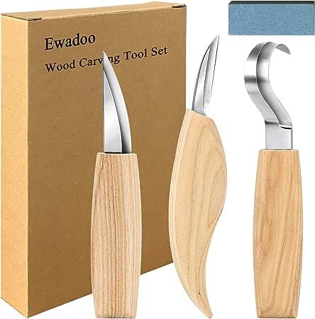 Kit de sculpture sur bois couteau ensemble d/'outils de menuiserie bricolage