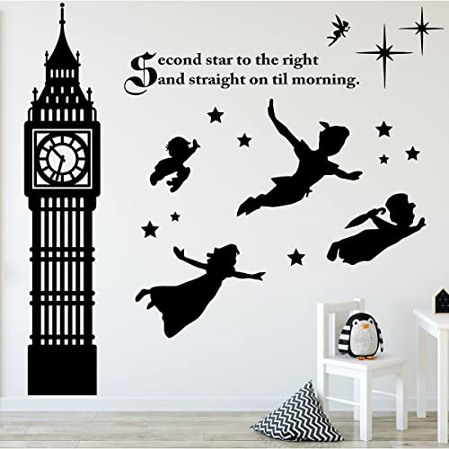 Peter Pan Decor  Disney Wall Decals, Vinyl Art Stickers For Kids Room,  Playroom Part 47