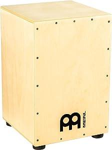 Meinl Cajon Box Drum, Full Size with Internal Metal Strings for Adjustable Snare Effect, Birch Wood, HCAJ1NT