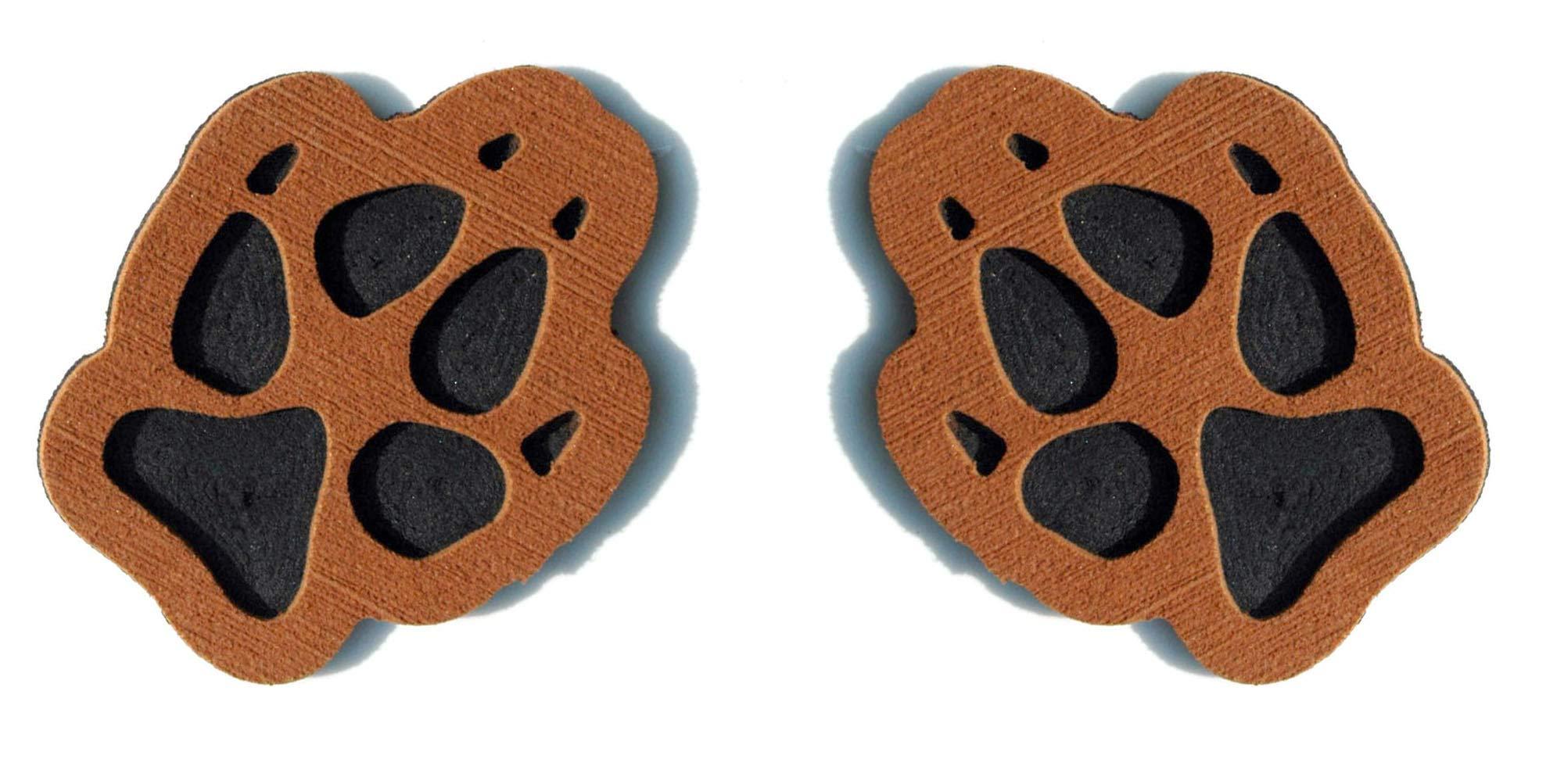 Toejamr Snowboard Stomp Pad - 2 Puppy Paws - Brown