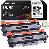 2 LEMERO Compatible Brother TN-2420 TN2420 TN-2410 [con Chip] Cartuchos de Toner para HL-L2310D HL-L2350DN HL-L2370DN HL-L2375DW MFC-L2710DN MFC-L2710DW MFC-L2730DW MFC-L2750DW DCP-L2510D DCP-L2530DW
