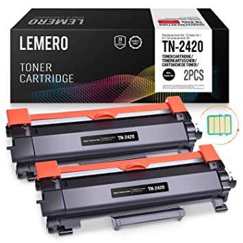 2 LEMERO Compatible Brother TN-2420 TN2420 TN-2410 [con Chip ...
