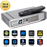 Foluu Mini Video Projector DLP Pocket 3D 4K Portable Projector 500 ANSI lm Support 1080P Bluetooth HDMI TF Card for Home Cinema iPhone Android Wireless Screen Share Auto Keystone Correction