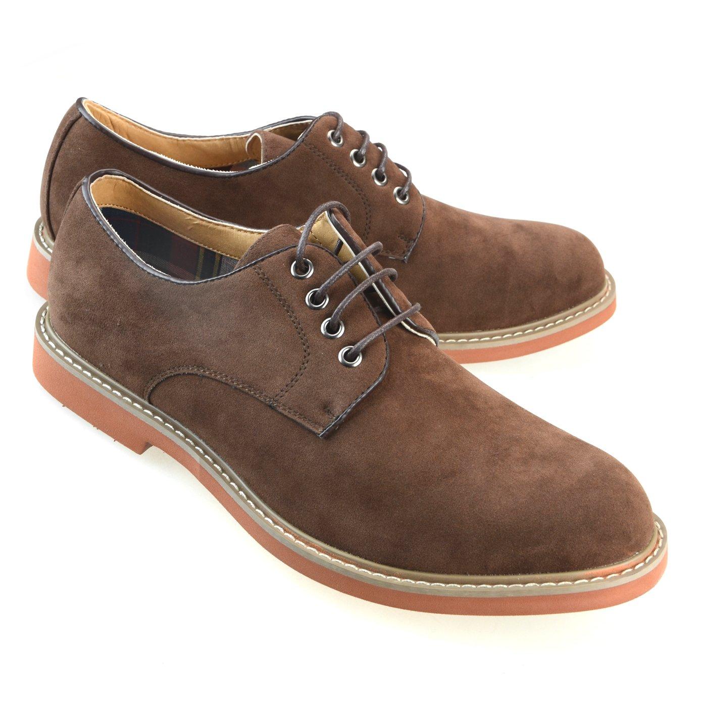 O-NINE Mens Casual Shoes Oxford Shoes Dress Shoes Drving Shoes Fashion Lace up Shoes Darkbrown 43 EU (US Men's 10 M)