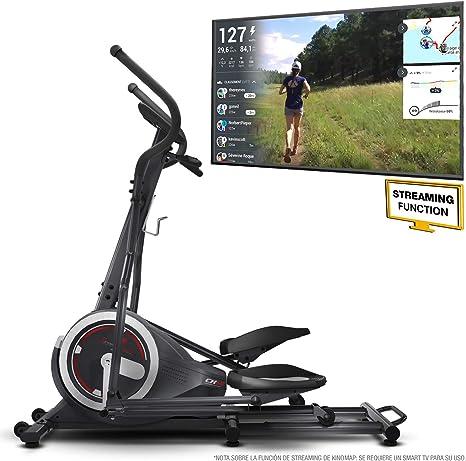 Sportstech Bicicleta Elíptica para Casa | Elíptica con Video Eventos y App Multijugador | 24 kg