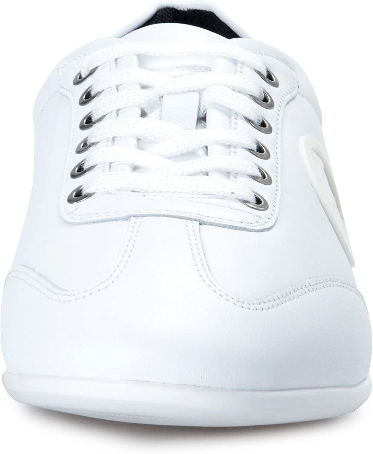 Versace Collection Mens White Leather Fashion Sneakers Shoes Sz US 10 IT 43