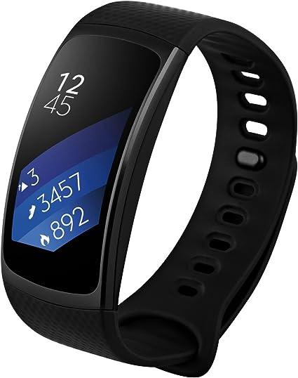 Samsung Gear Fit2, Black (Large) (Renewed)