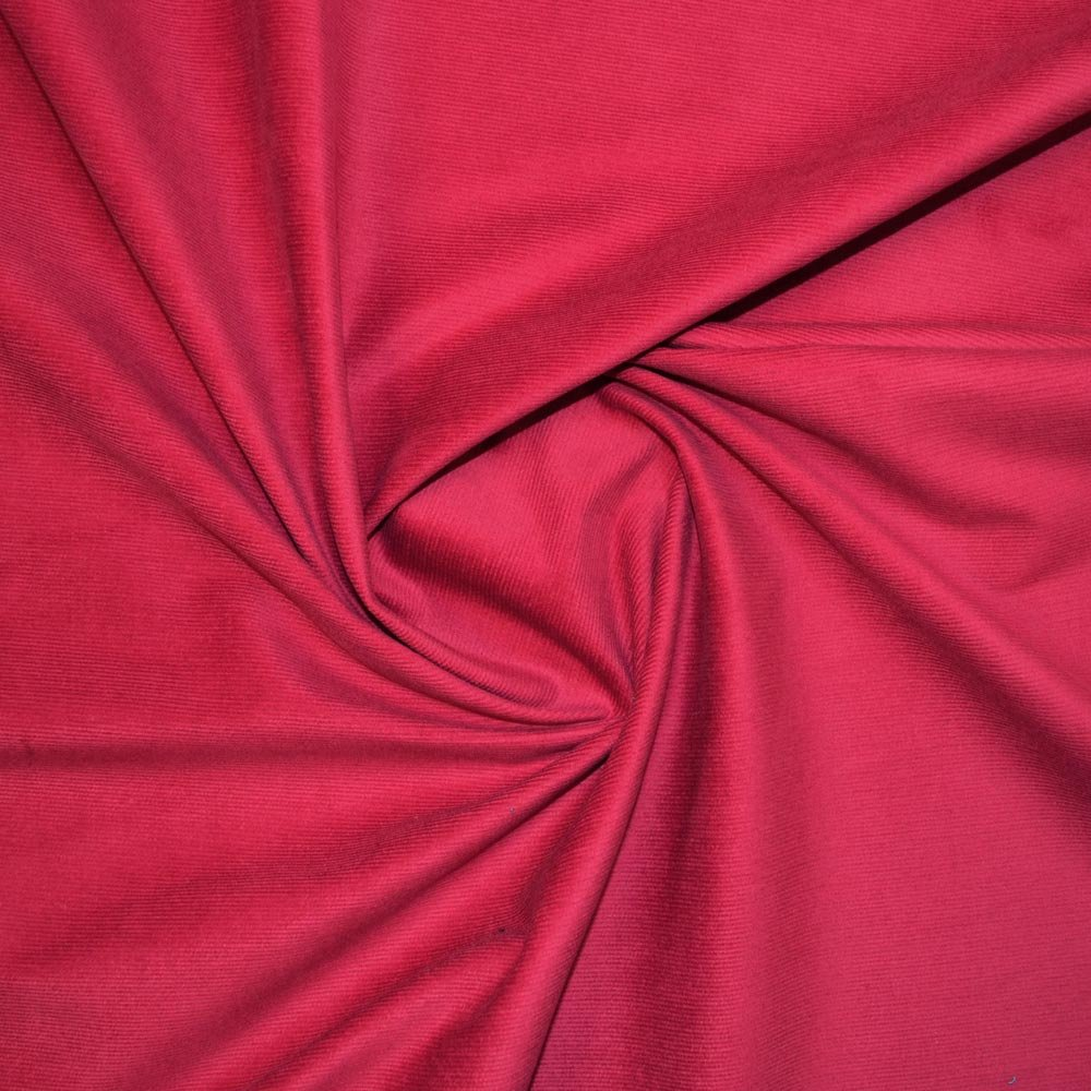 Black 18 Wale Stretch Needle Cord Fabric