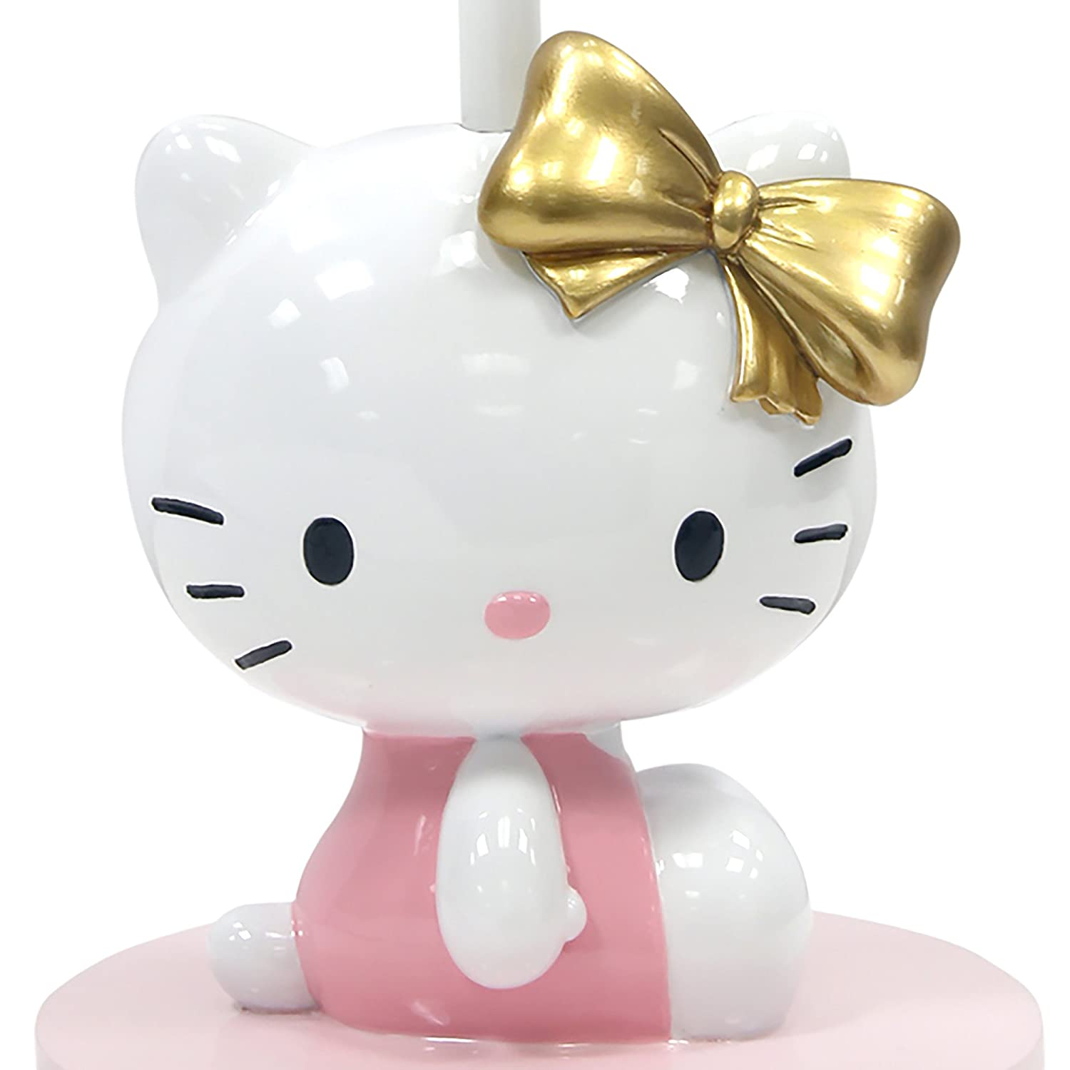 Pink//White Lambs /& Ivy Hello Kitty Lamp with Shade /& Bulb