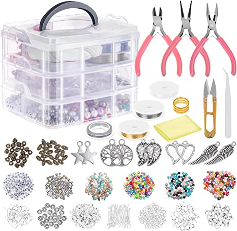 Fashion Jewelry Making Supply Beading Kits With Tools For Necklace DIY