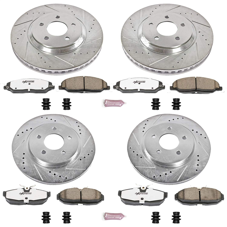 2005 2006 2007 Fits Nissan Murano Max Performance Ceramic Brake Pads F+R