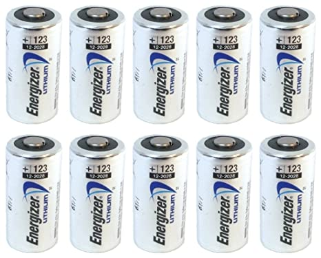 Buy 10 Pcs Energizer Lithium Cr123a 3v Photo Lithium Batteries