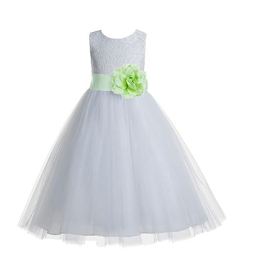 8900b38edbe78 ekidsbridal Floral Lace Heart Cutout White Flower Girl Dresses First  Communion Dress Baptism Dresses 172T