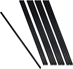 Urbalabs 15 inch Metal Rebar Garden Straight Camping Stakes (16pcs) Heavy Duty Ground Anchors, Steel Tomato Plant Stakes & Small Tree Supports Chisel Point End Great For Hard Soil Anti Rust Coated