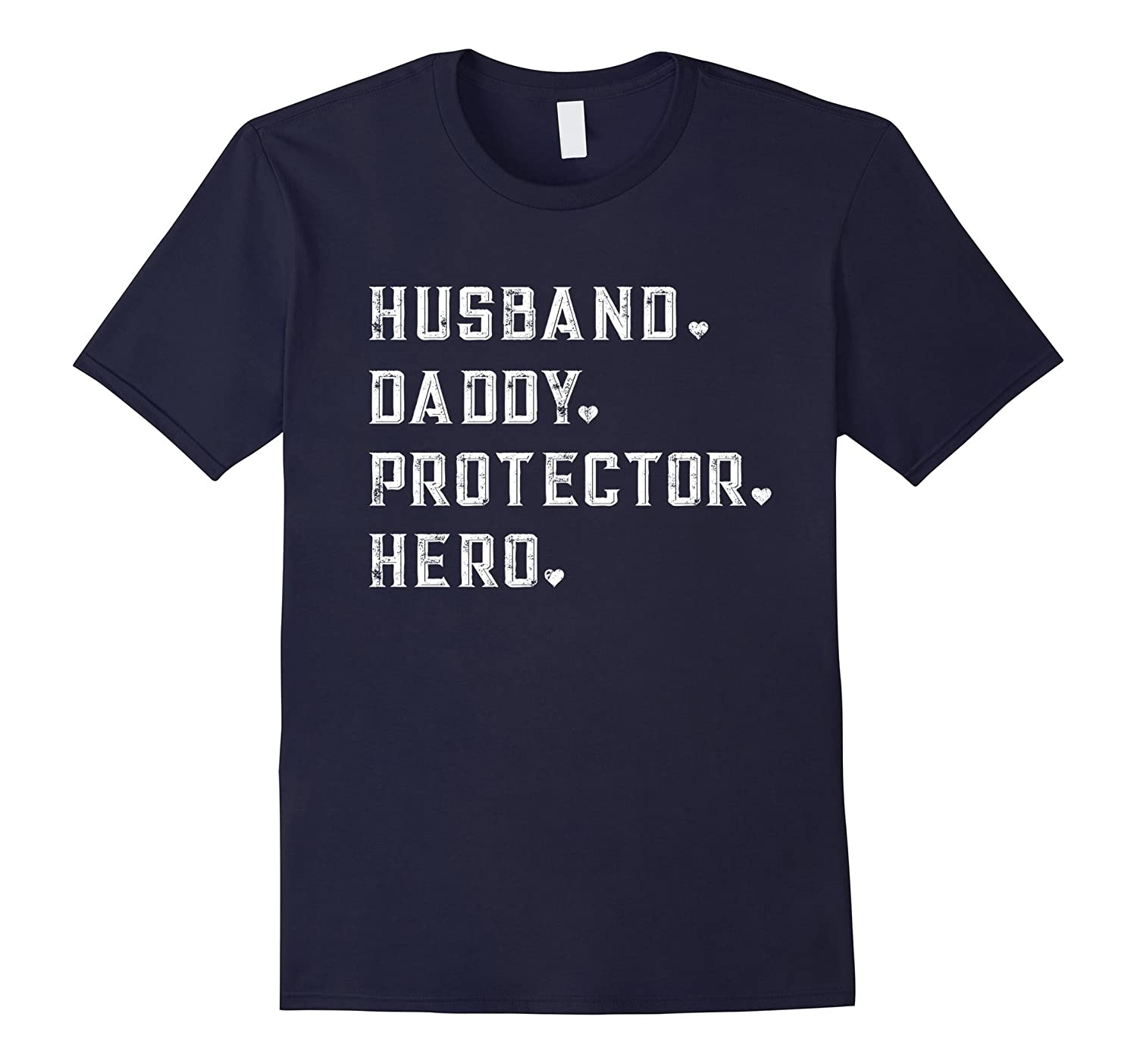 Mens husband daddy protector hero shirt-FL
