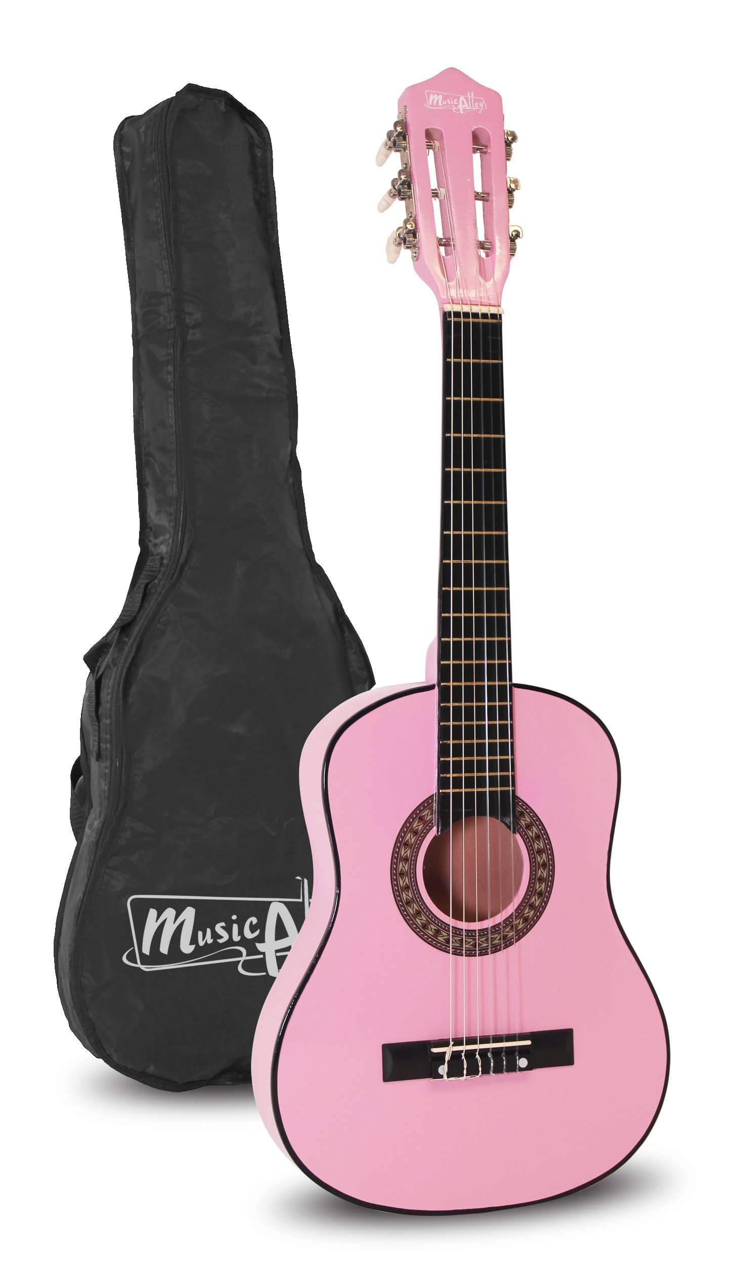 Music Alley MA-51 Music Alley 1/2 Size 30'' Junior Classical Guitar, Pink
