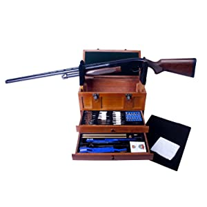 1. Gunmaster Wooden Toolbox with Universal Select Gun Cleaning Kit