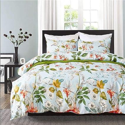 Amazon Com Jhhome Girls Floral Duvet Cover 2 Pieces Bedding Sets