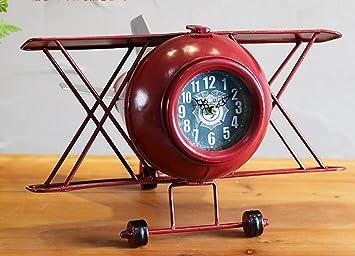 Creativo De La Vendimia Forjado Adornos De Hierro Reloj Modelo De Aeronave Relojes índice Oficina De Escritorio Del Reloj De Tabla De Reloj Adornos: ...