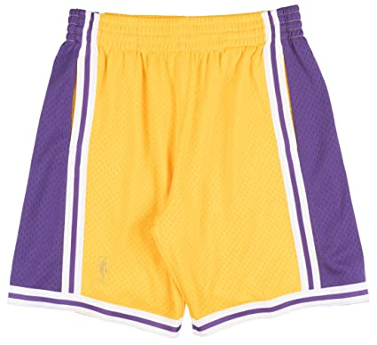 ce07cd3d0d2b Image Unavailable. Image not available for. Color  Mitchell   Ness Los  Angeles Lakers NBA Men s Swingman Shorts ...