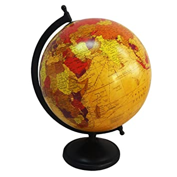 Indian handmade decorative world map globe beige 8 plastic ball indian handmade decorative world map globe beige 8quot plastic ball standing home dcor collection vintage gumiabroncs Images