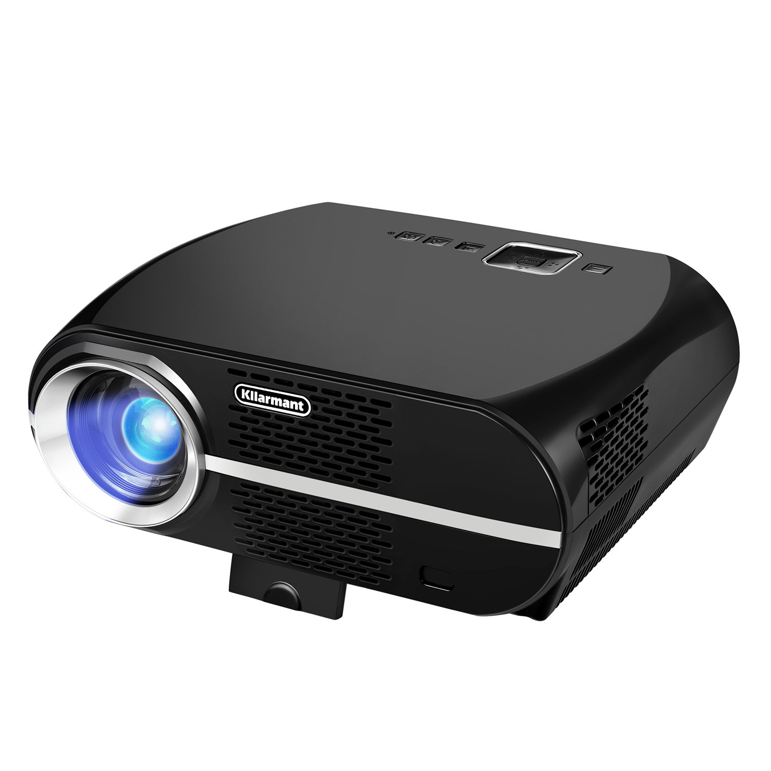 Kllarmant Video Projector, Portable Home Theater Projector GP100 3500 Lumens Resolution 1280x800 Support 1080P USB HDMI VGA for Video Games and Home Cinema Theater by Kllarmant