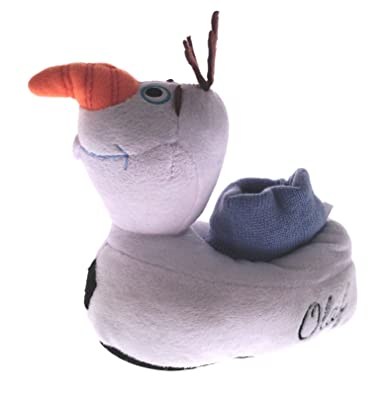 7a90b750d5d1 Disney Boys Girls Kids 3D Frozen Olaf Slippers Shoes Size UK 8