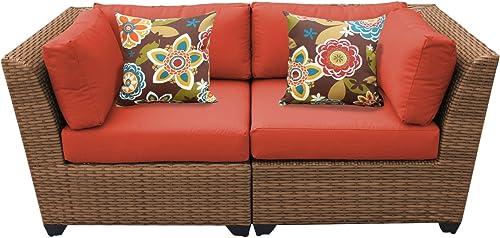 TK Classics Laguna 2 Piece Outdoor Wicker Patio Furniture Set