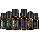 VICTSING Huiles Essentielles Aromathérapie 100% Pures 6 * 10ml(Orange, Lavande, Arbre à Thé, Citronnelle, Eucalyptus et Menthe Poivrée)