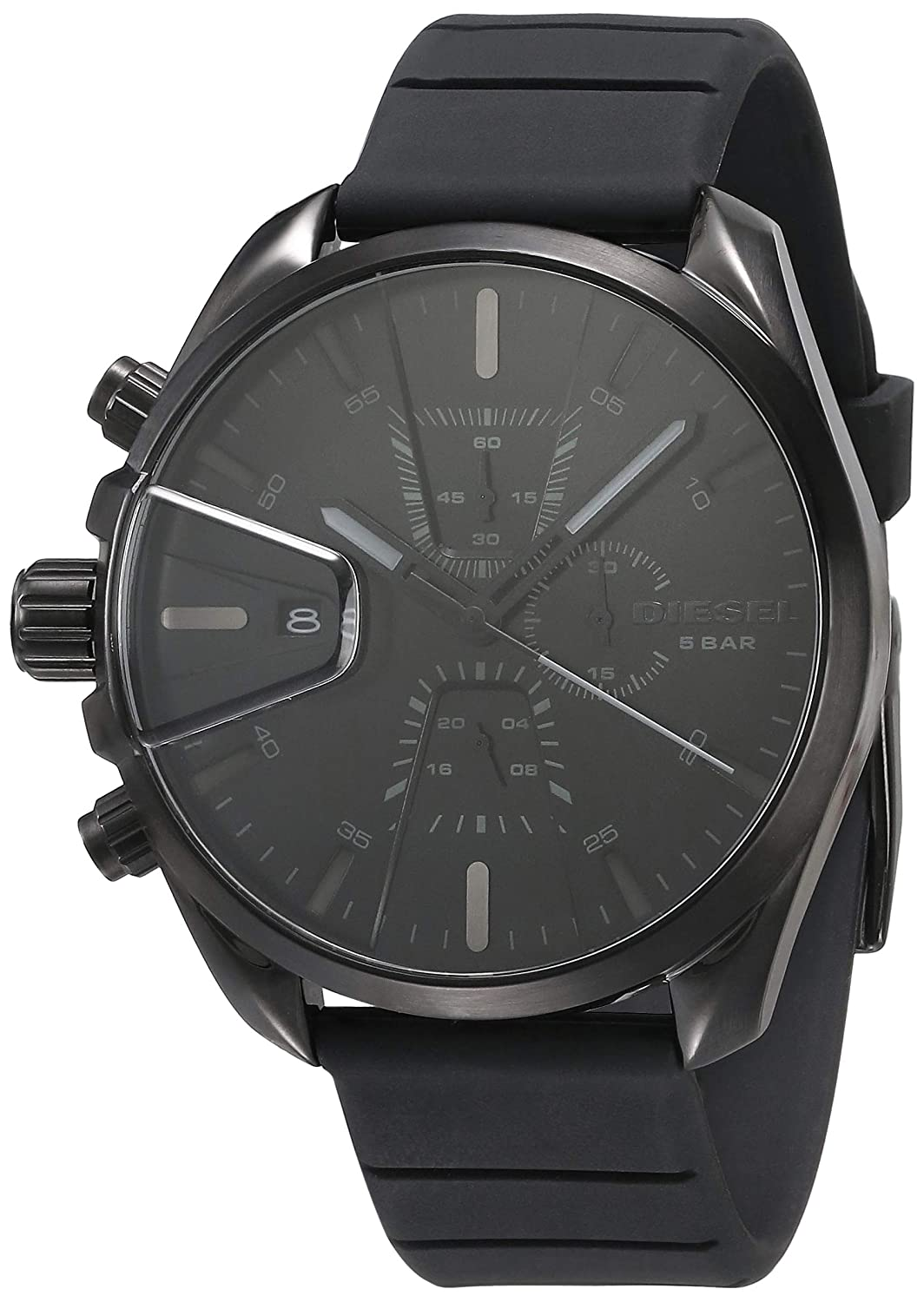 Diesel Ms9 Chrono Analog Black Dial Men's Watch-DZ4507