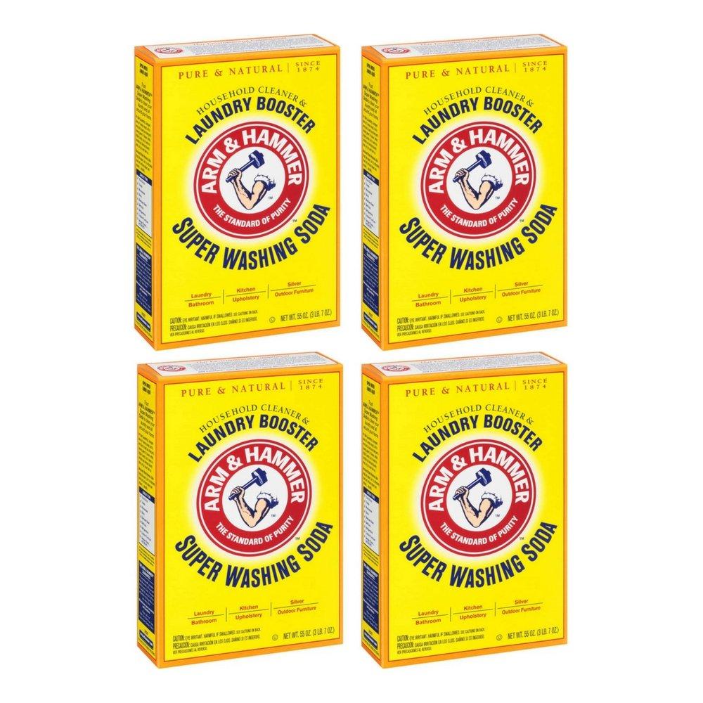 Arm & Hammer, Super Washing Soda Detergent Booster - 55 oz by Arm & Hammer (4pack)