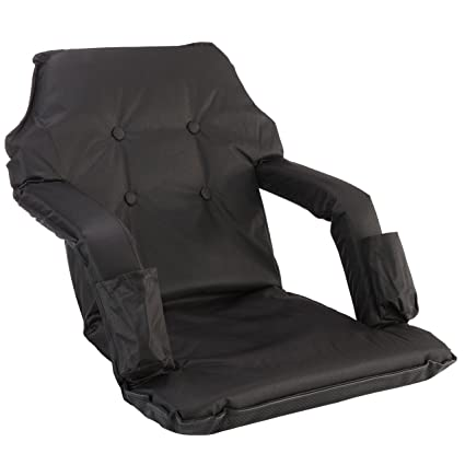 All4Love Ergonomic Reclining Stadium Chair For Bleachers, Lawns And Floor,  Adjustable Back And Armrest