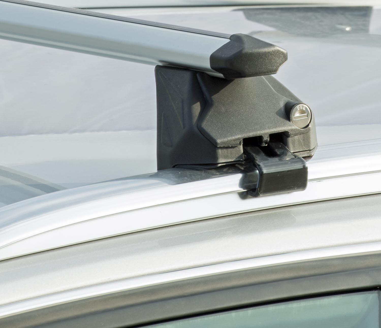 5 T/ürer ab 2015 90kg abschliessbar VDP Alu Relingtr/äger CRV107A kompatibel mit BMW X1 F48