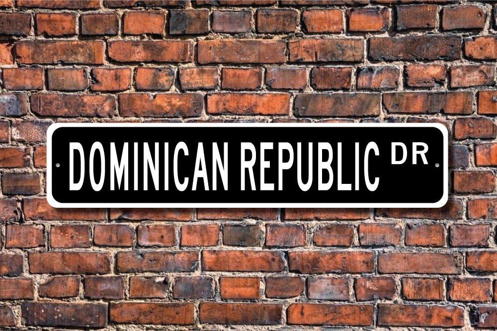 Aersing Chambre à Coucher Sign Sign Decor de la République Dominicaine République Dominicaine Souvenir Plaque Porte Décoratifs en Métal