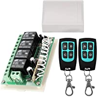 12V Relay Remote Switch Wireless RF Remote Control Switch 4 Channel Relay Module 433Mhz Transmitter Receiver Kit…