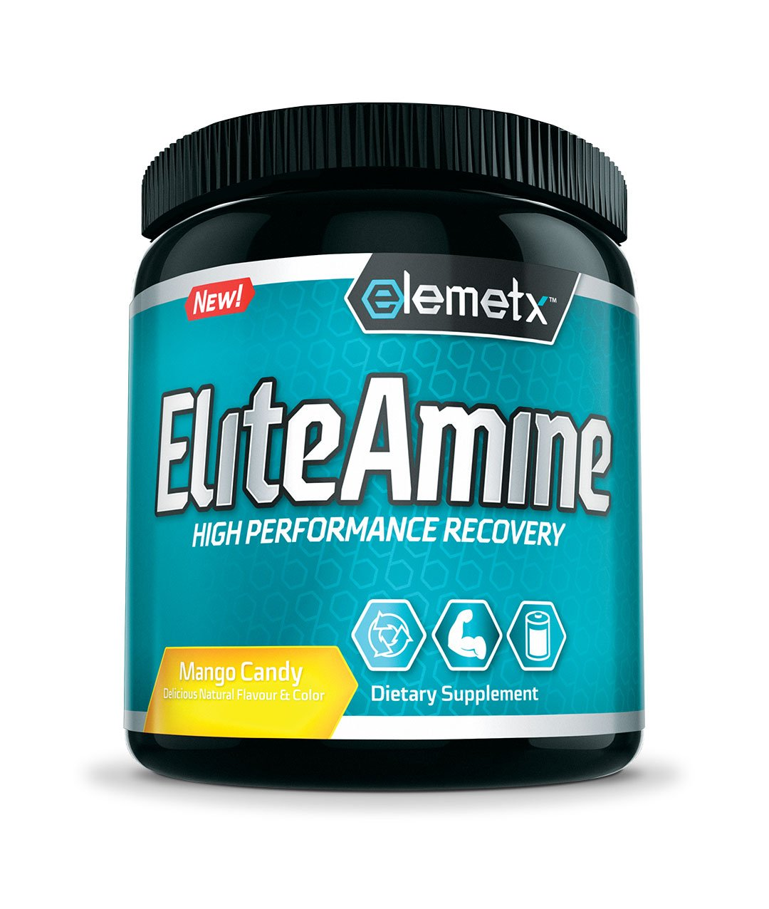 Elemetx® EliteAmine - High Performance Recovery Drink – Sports Performance BCAA – Recover Faster – Build Muscle – Decrease Soreness
