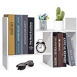 Hossejoy Desktop Organizer Office Storage Rack Adjustable Wood Desk Organizer Display Shelf, Countertop Bookcase Desktop…