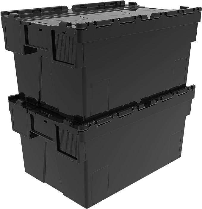 2 x adjunta de plástico 56 litros - plástico reciclado de la caja de herramientas cajón con ampolla lata - tapa incluidas diseño de tapa de la caja: Amazon.es: Bricolaje y herramientas