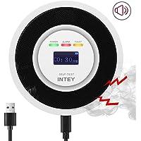 INTEY CO Melder Kohlenmonoxid Melder CO Sensor Kohlenmonoxid Detektor mit LCD-Display batteriebetriebener Warner mit USB-Aufladung
