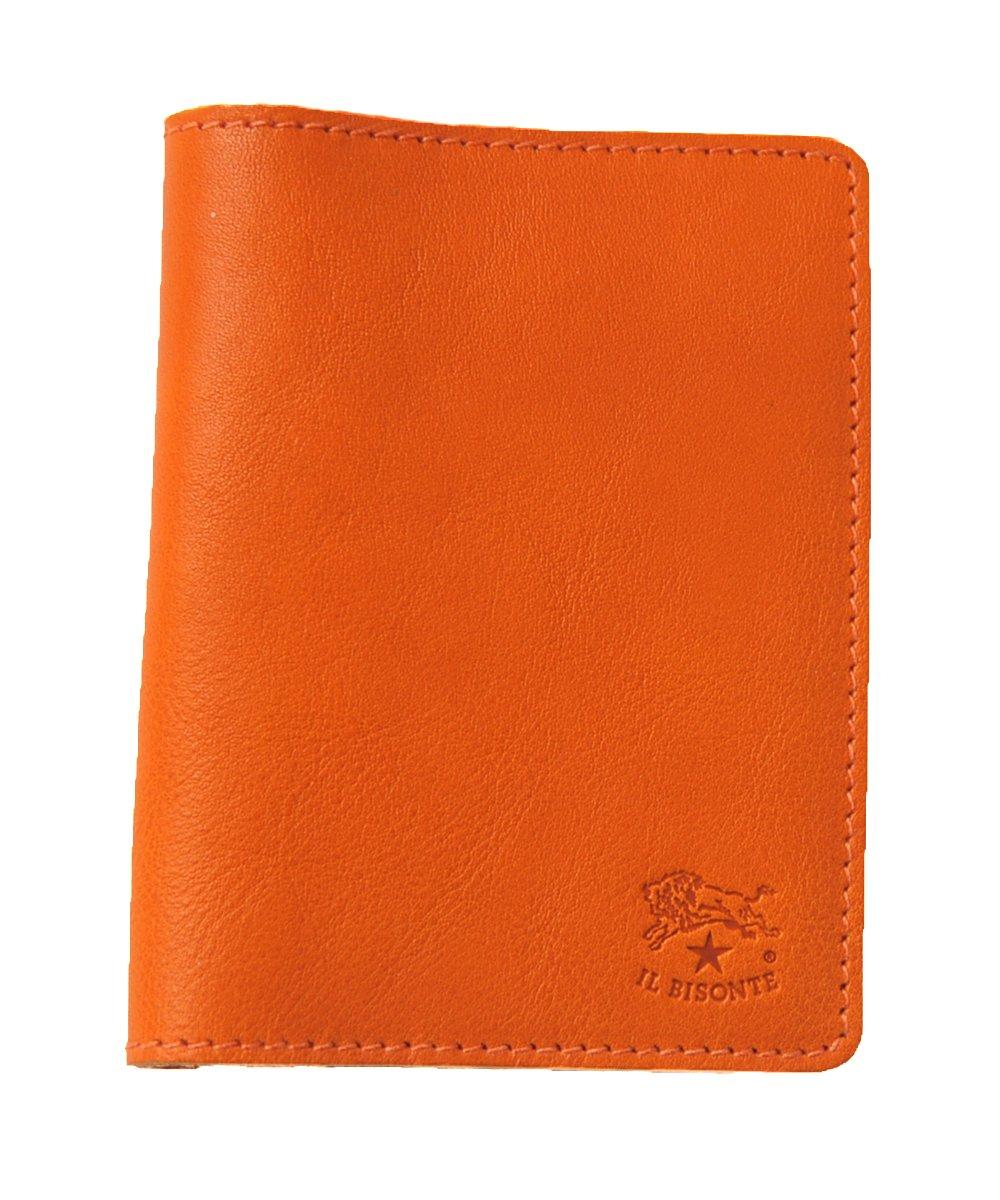 国内正規販売店 (イルビゾンテ) IL BISONTE 2つ折り レザーパスケース カードケース 定期入れ411619 ユニセックス B00IY2MK5O orange(col.66) orange(col.66)