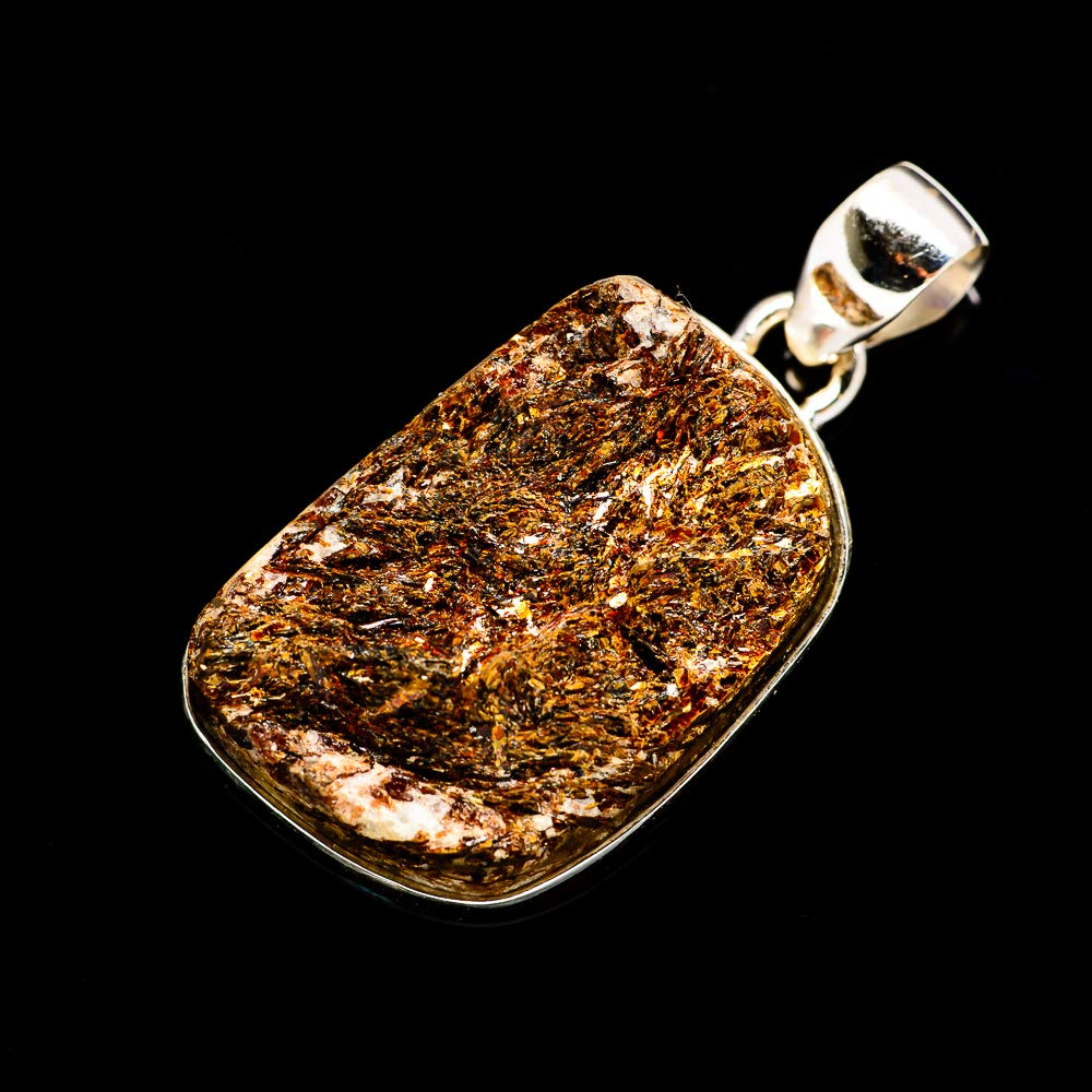Vintage PD690086 925 Sterling Silver Ana Silver Co Rough Astrophyllite Pendant 1 1//2 Bohemian - Handmade Jewelry