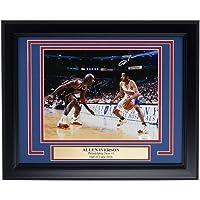 $159 » Allen Iverson Signed Framed 8x10 Philadelphia 76ers Photo vs Michael Jordan JSA