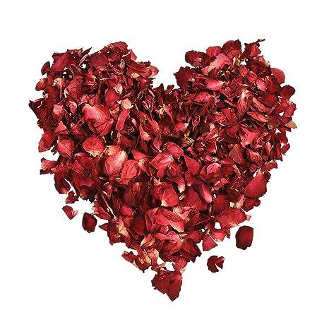 Naisicatar 25g Rosa Secos Decoraciones pétalos de Flores de la Boda de Rosas secas pétalos para Bodas Favorece Decoración y floreros decoración
