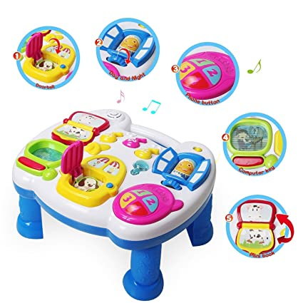 6c57697b053 Buy Techhark Musical Learning Table Baby Toy for Toddlers - Early Education  Music Activity Center Game Table Baby Toys for 1 2 3 Year Old Online at Low  ...