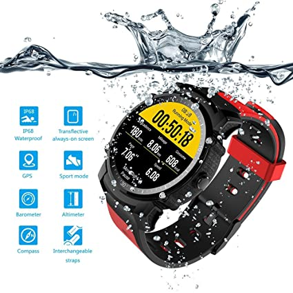 FS08 Smartwatch Swim Watch GPS Healthy Heart Rate Touch Screen Bluetooth 4.0 Compass Altimeter Smart Watch Waterproof for Swimming Multi-mode Amart ...