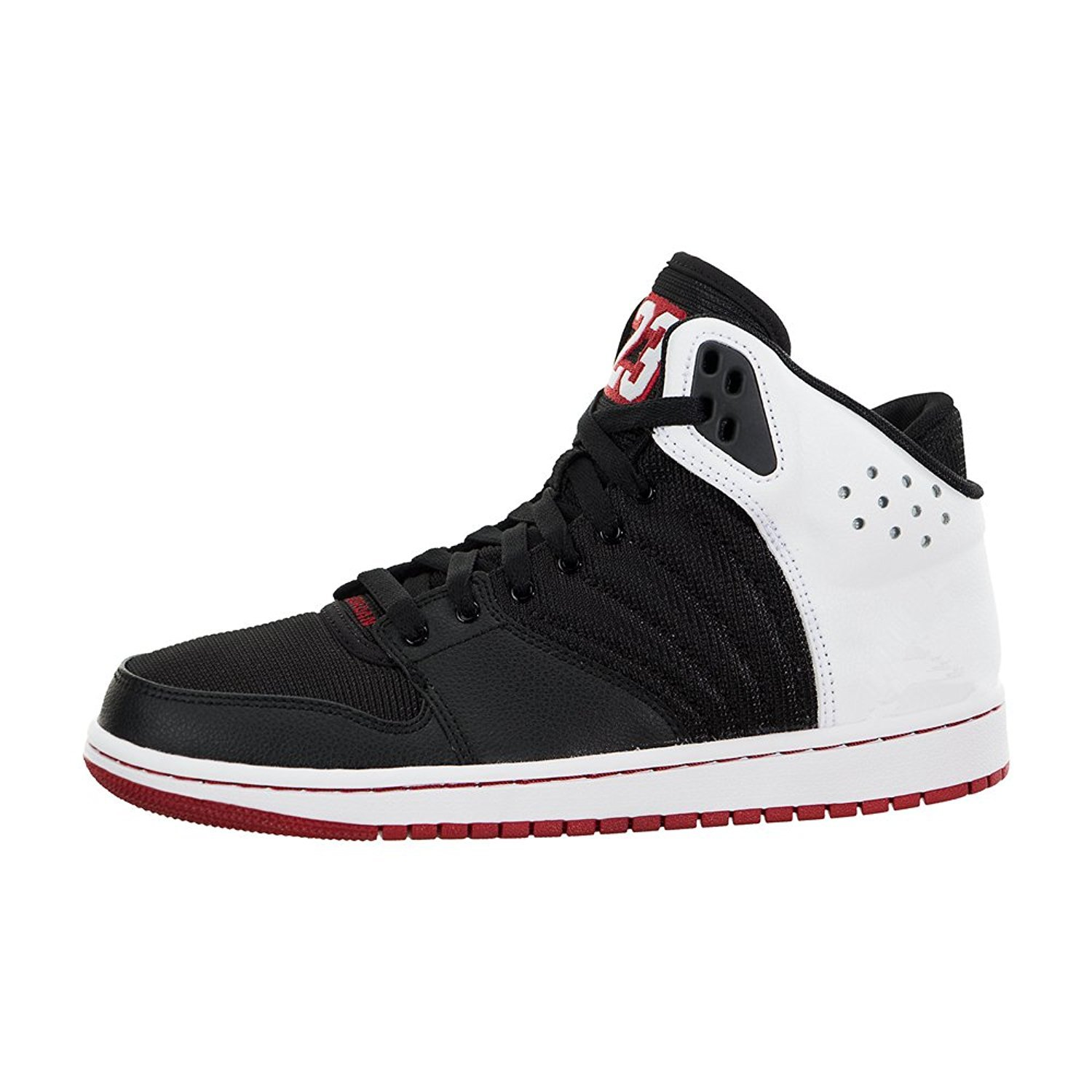 a474ed1fa Amazon.com | Jordan Men's 1 Flight 4 Shoe (820135-001) - Black/Gym  RED/White (US 12) | Shoes