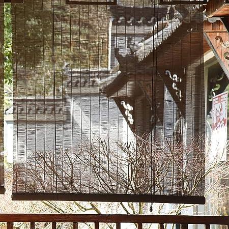 FF - Estor Enrollable Externo para pérgola de Exterior, Patio, balcón, Porche, parasoles opacos con Accesorios, 80/100/120/130/140 cm de Ancho: Amazon.es: Hogar