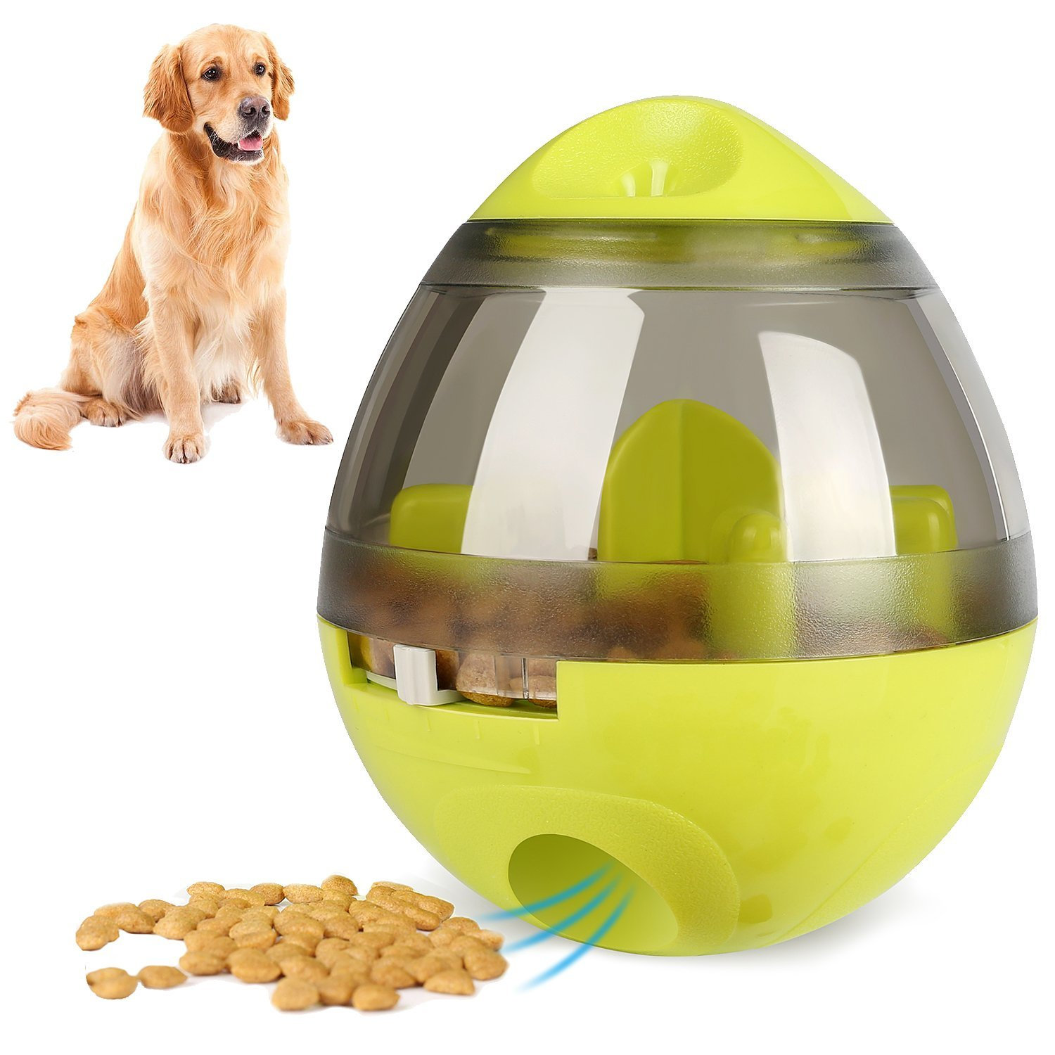 KAOSITONG Interactive Dog Toy,Interactive Food Dispensing Ball Dogs Cat Increases IQ & Mental Stimulation,Slows Down Eating,Promoting Active Healthy Feeding Small Medium Large Dogs,Easy to Clean