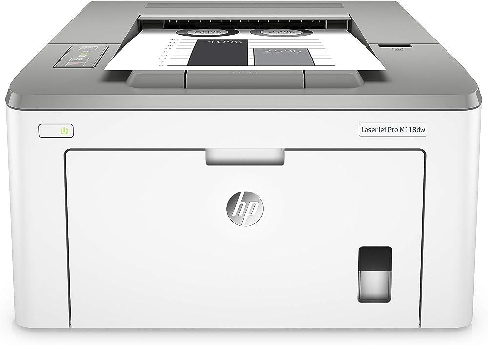 Stampante wifi senza fili hp laserjet m118dw bianco e nero, wi-fi