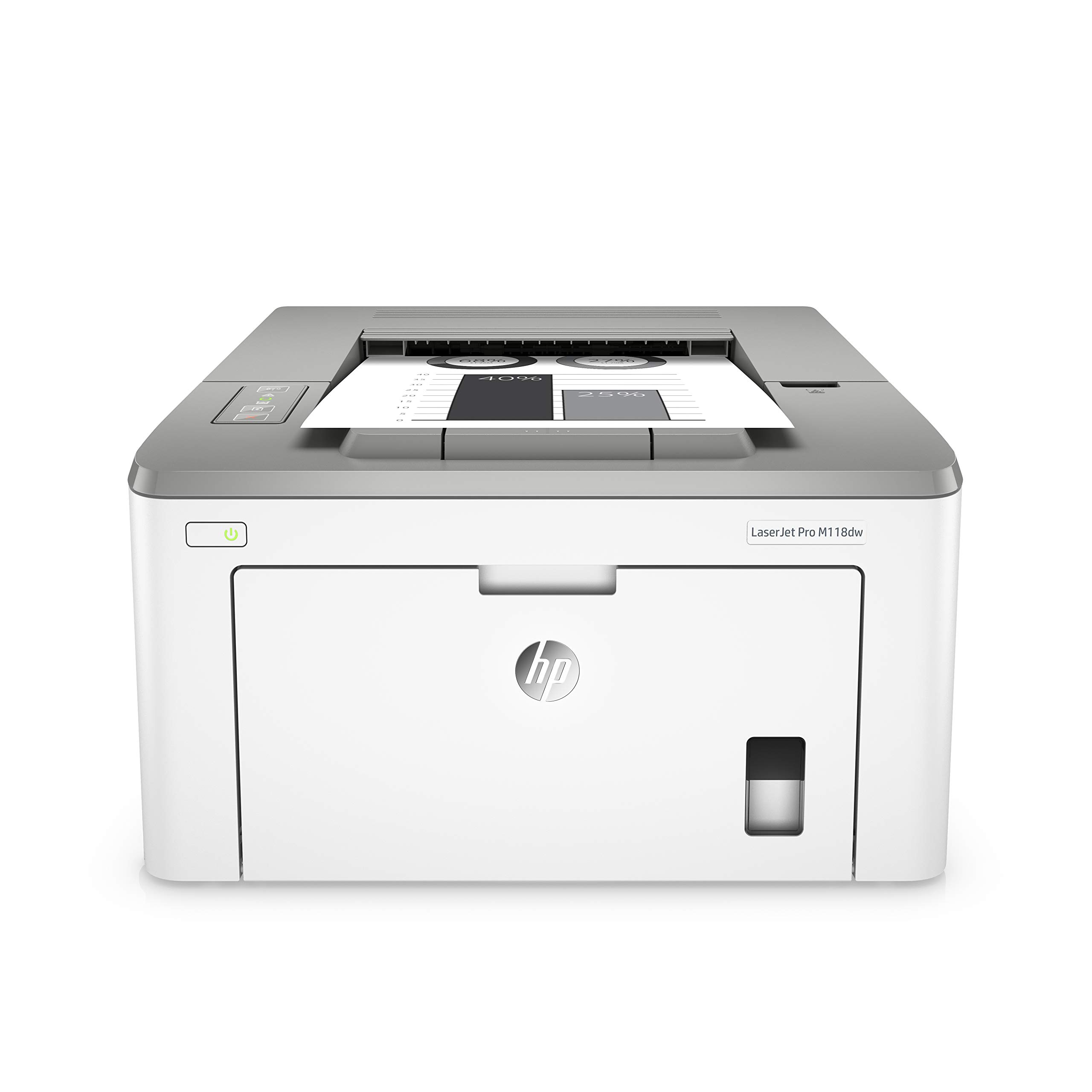 HP LaserJet Pro M118dw (4PA39A0) A4 Wireless Mono Laser Printer with Wi-Fi® Direct Printing - White